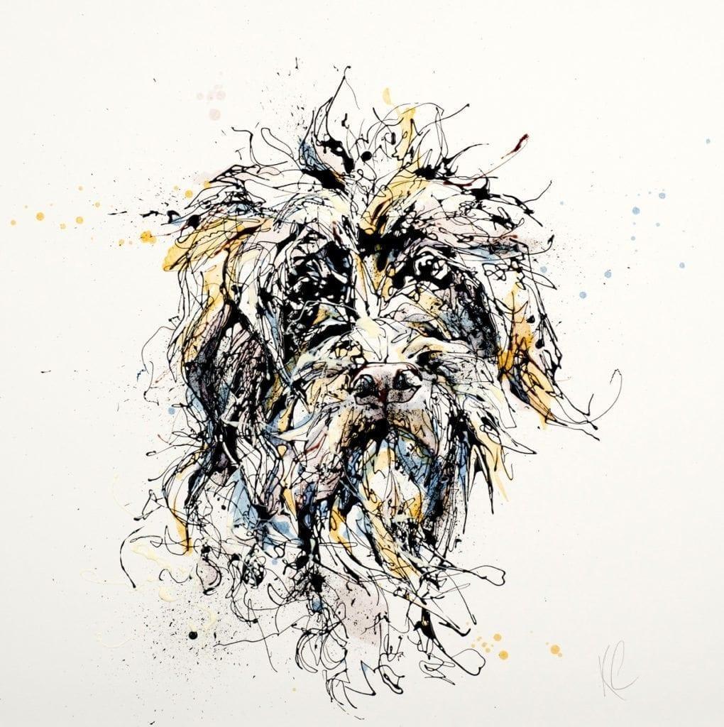 scruffy dog kathryn_callaghan_fine_art