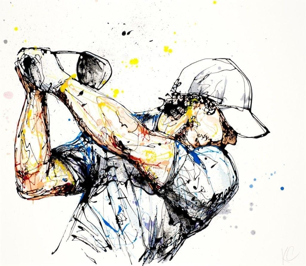 Rory McIlroy Golf golfer_kathryn_callaghan_fine_art