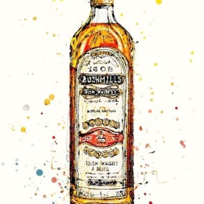 Bushmills Irish Whiskey print by artist Kathryn Callaghan