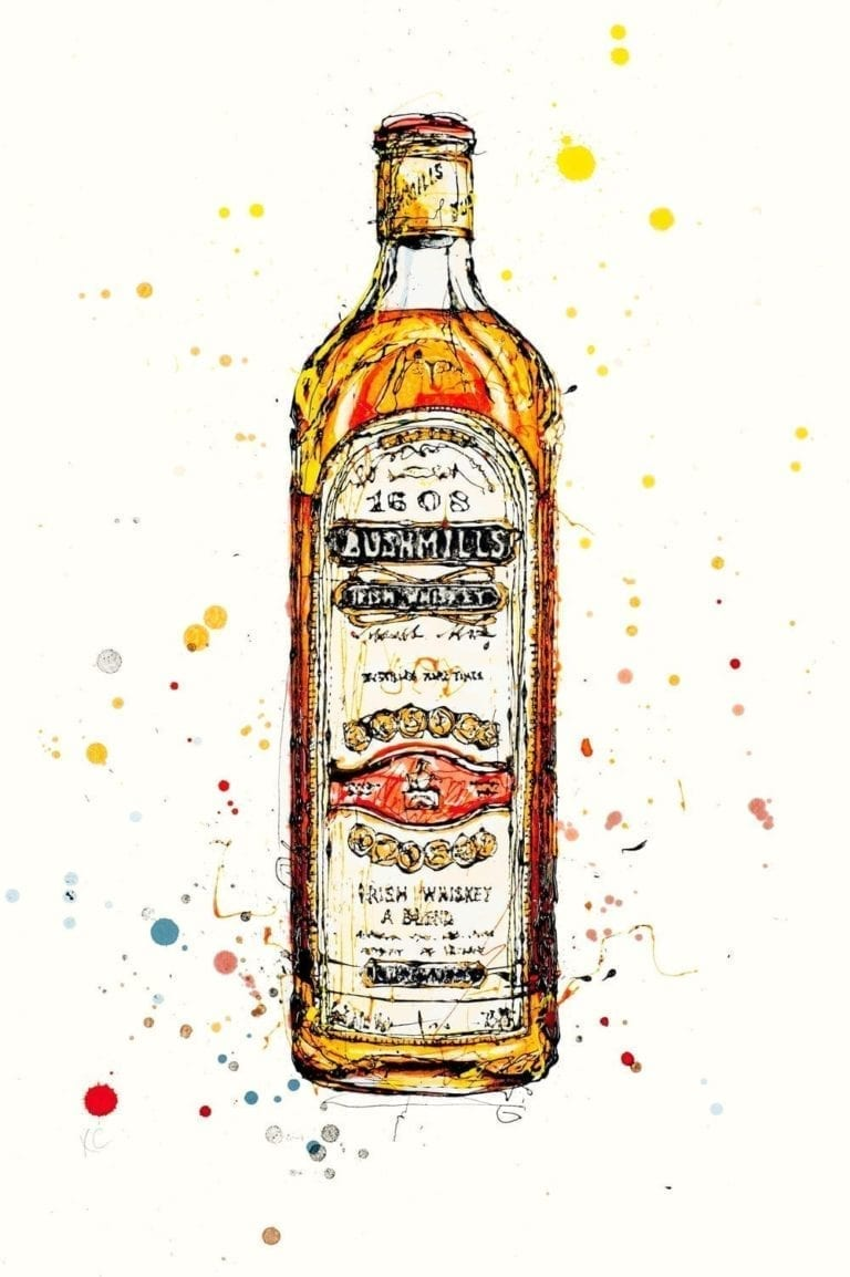 Bushmills Irish Whiskey print by artist Kathryn Callaghan