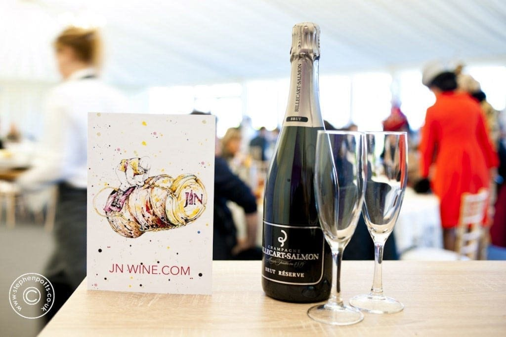 'Pop' was commissioned by JN Wine to brand their prestigious event at Down Royal Racecourse. Shown here on the wine menu.