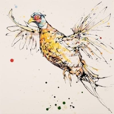 take-off_pheasant_kathryn_callaghan_fine_art