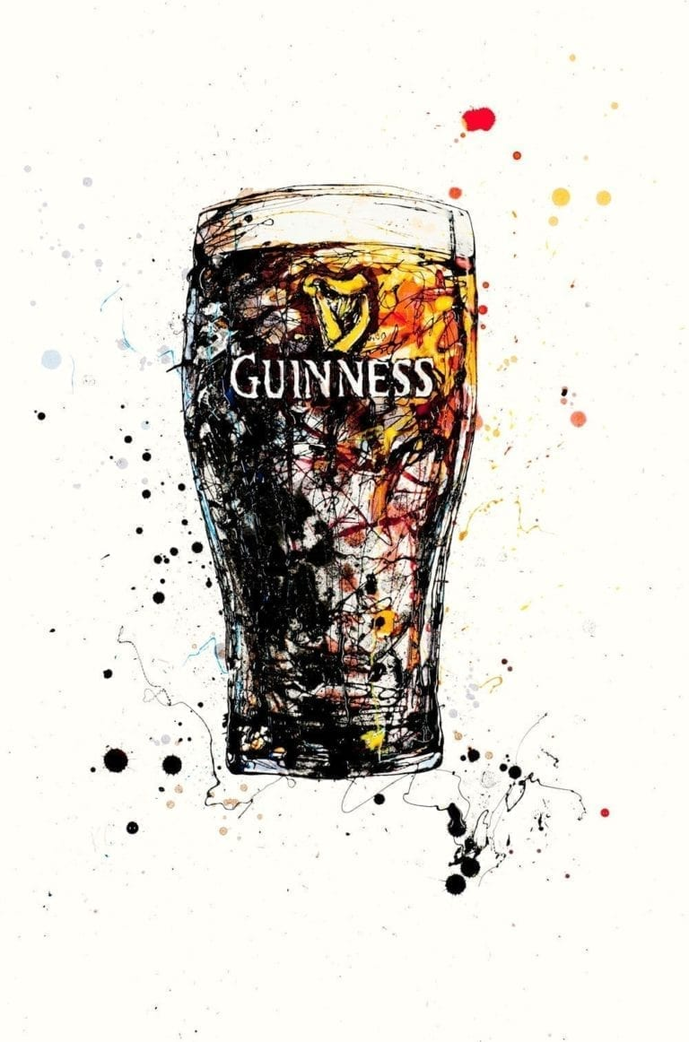Poured artwork guinness print by artist Kathryn Callaghan