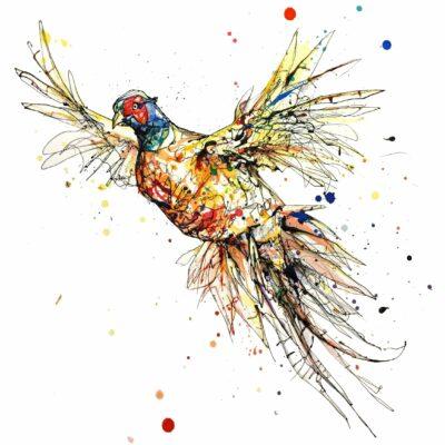 Flush Paper Fine Art Print Giclee Pheasant