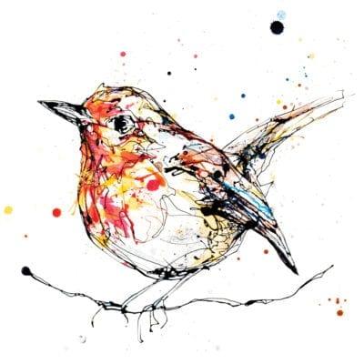 Peekaboo Robin fine art print
