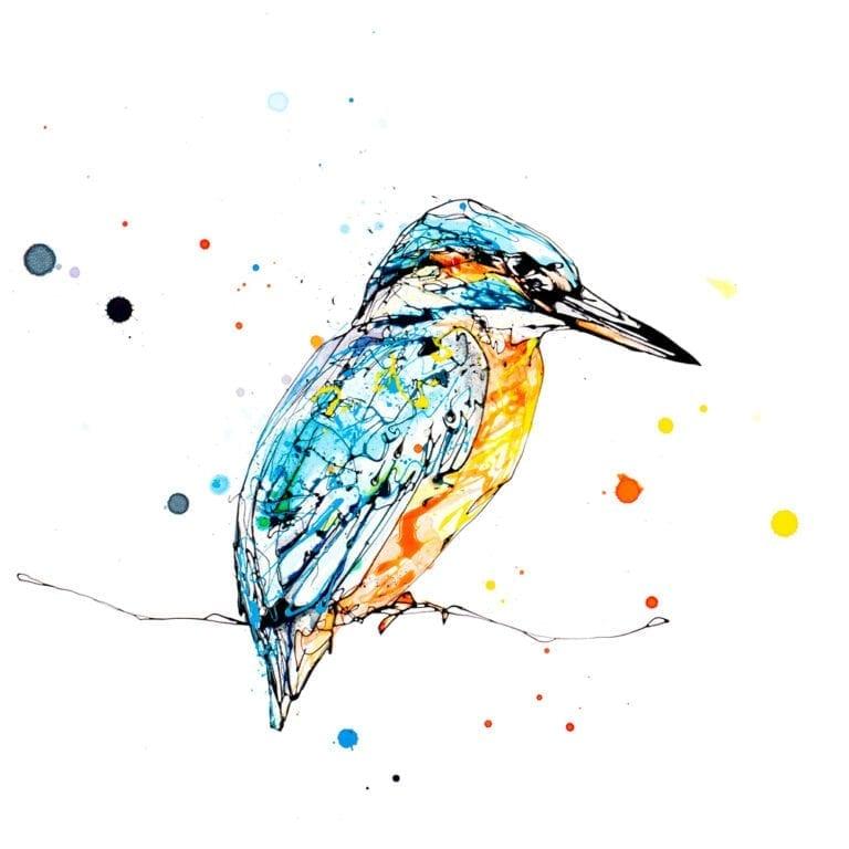 Gaze Peering Kingfisher Print