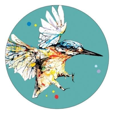 Premium coaster with kingfisher design