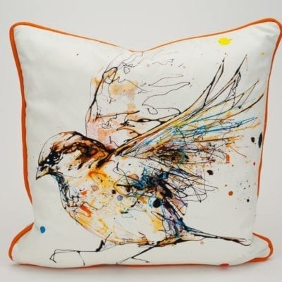 premium sparrow cushion design