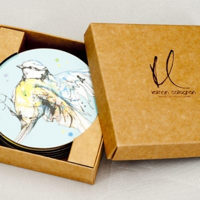 Set of 6 coasters in gift box