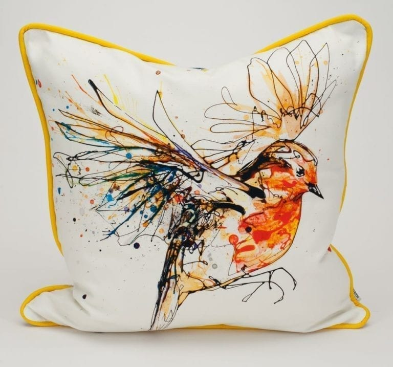Hand made Custom Robin Cushion