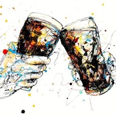 Beer print by Kathryn Callaghan