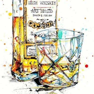 Irish whiskey print by Kathryn Callaghan