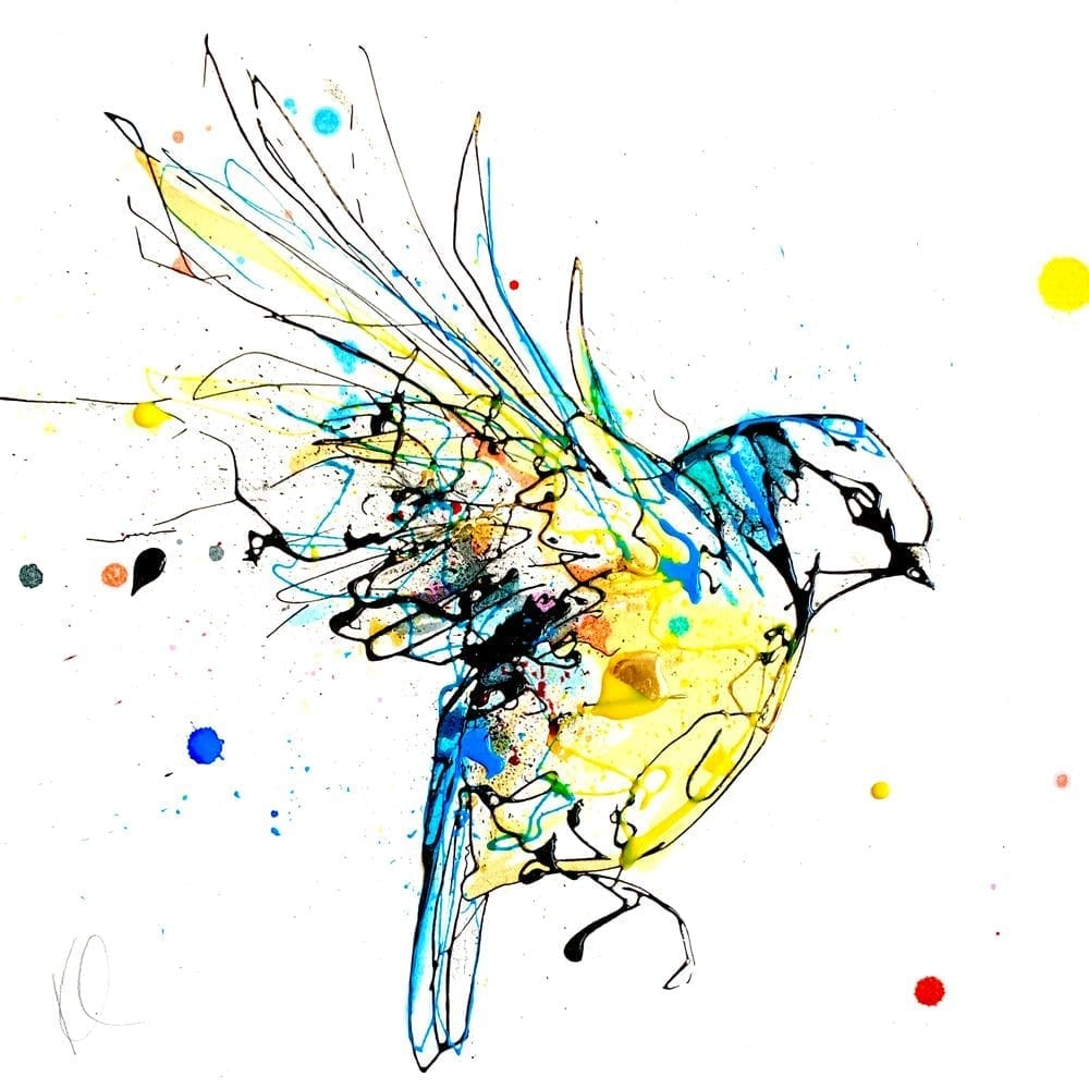 blue tit painting by kathryn callaghan