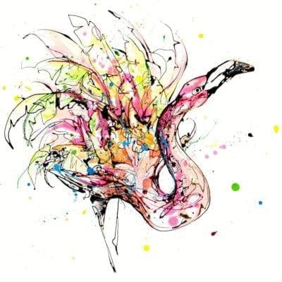 dancing queen flamingo print