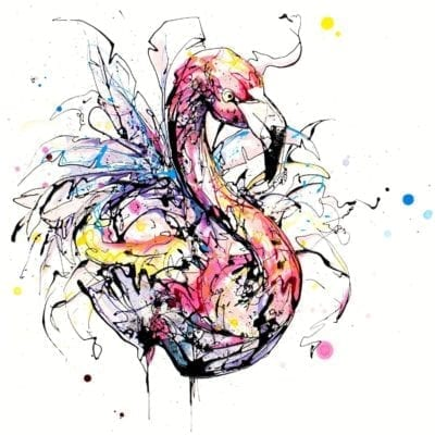 Razzle dazzle flamingo print