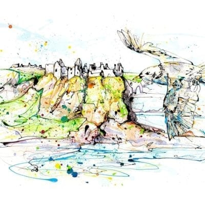 art print of dunluce castle northern ireland