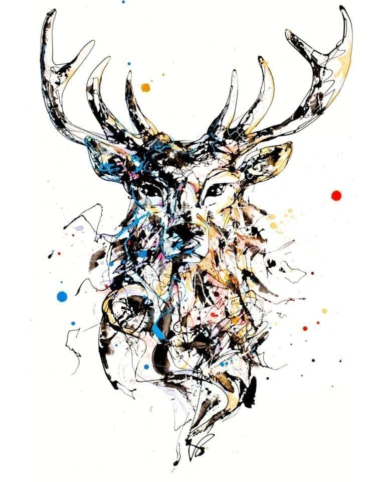 stag print by kathryn callaghan
