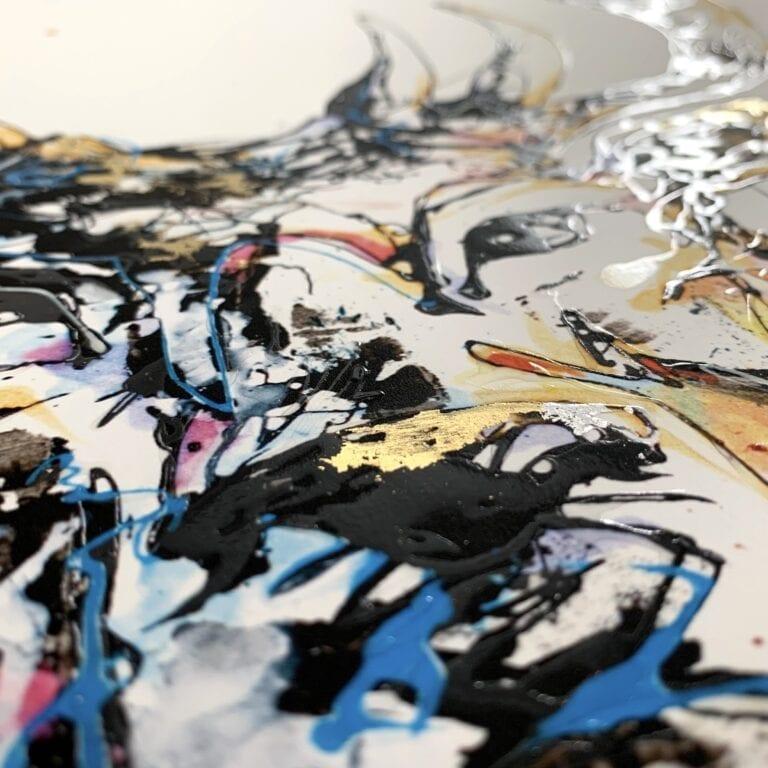 Embellished Surface Detail of Hero Paper Fine Art Print