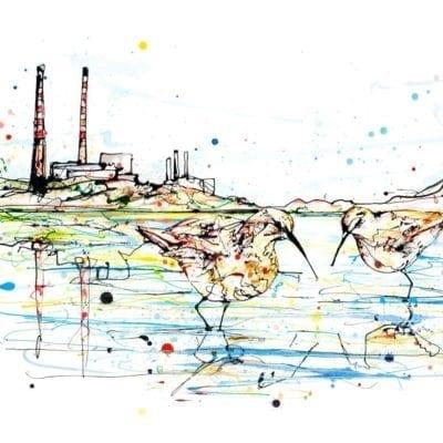 art print of pool beg chimneys dublin