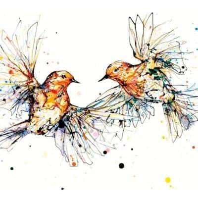 robin print by kathryn callaghan