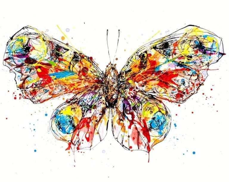 photo of butterfly print