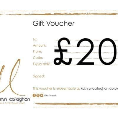 £20 gift voucher for kathryn callaghan