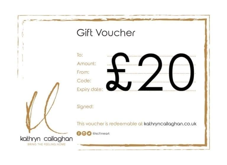 £20 gift voucher for kathryn callaghan