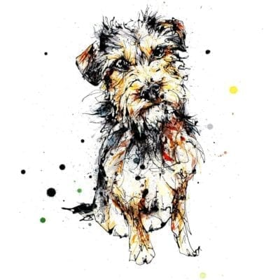 expectation terrier dog print