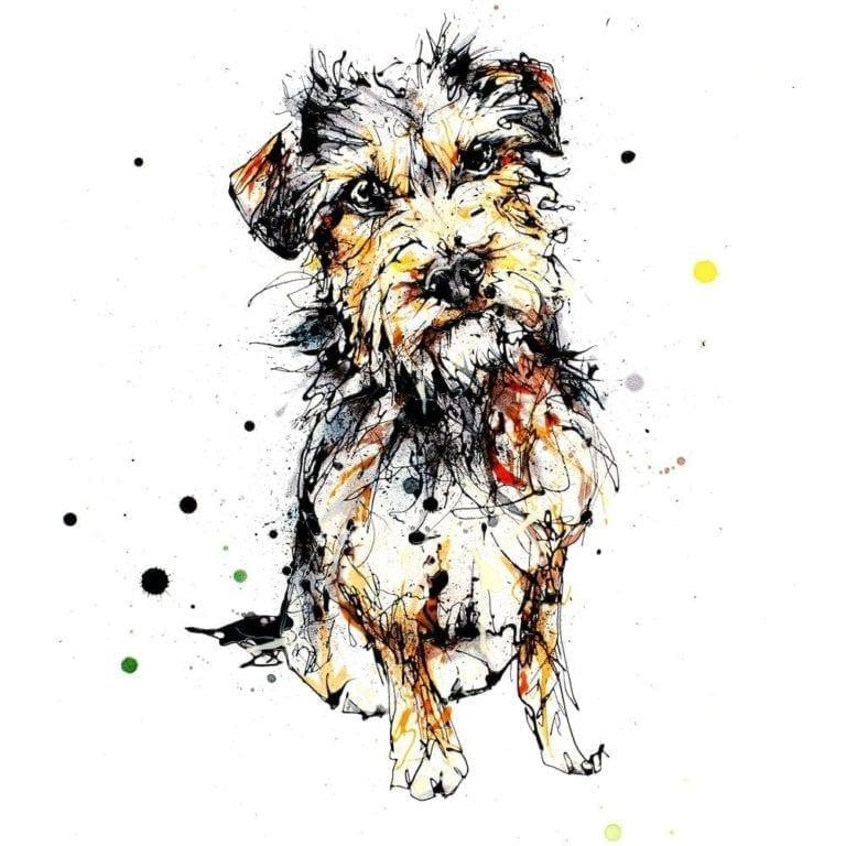 expectation terrier dog print