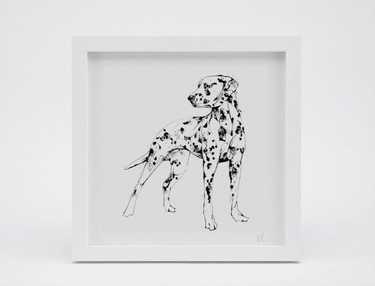dalmation print framed
