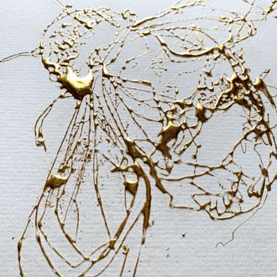 detail of golden bee