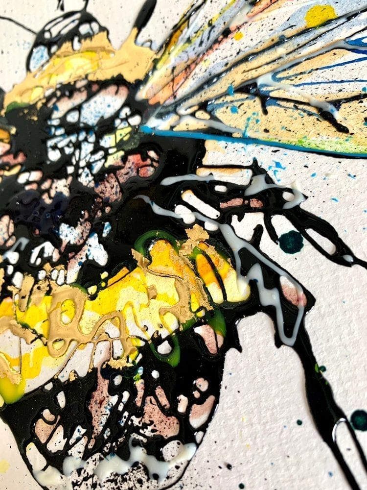details little bee painting