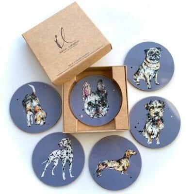 gift set of dog coasters