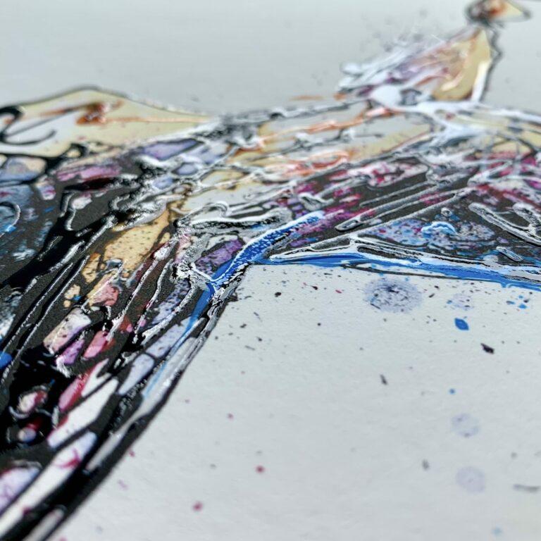 My Everything Dancer Print Embellished Surface