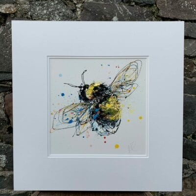 bee painting honeycomb