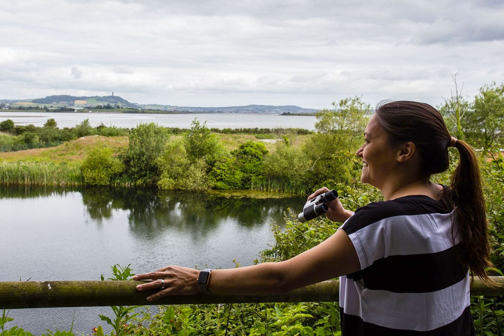 Kathryn looking out over Strangford Lough