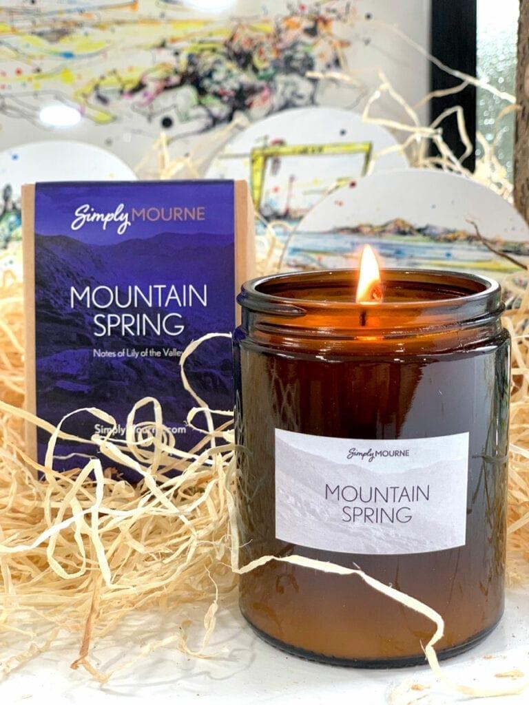 mountain spring candle