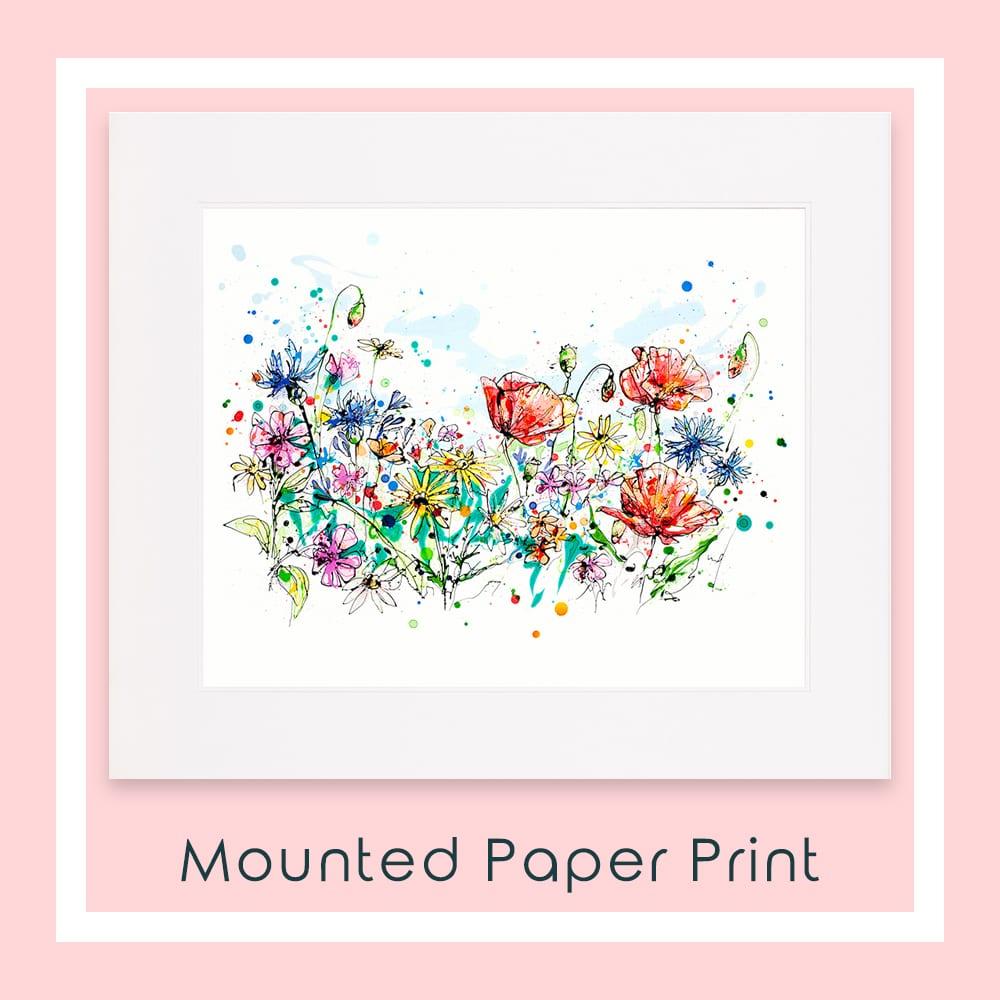 Enchanted Garden Paper Print Mounted