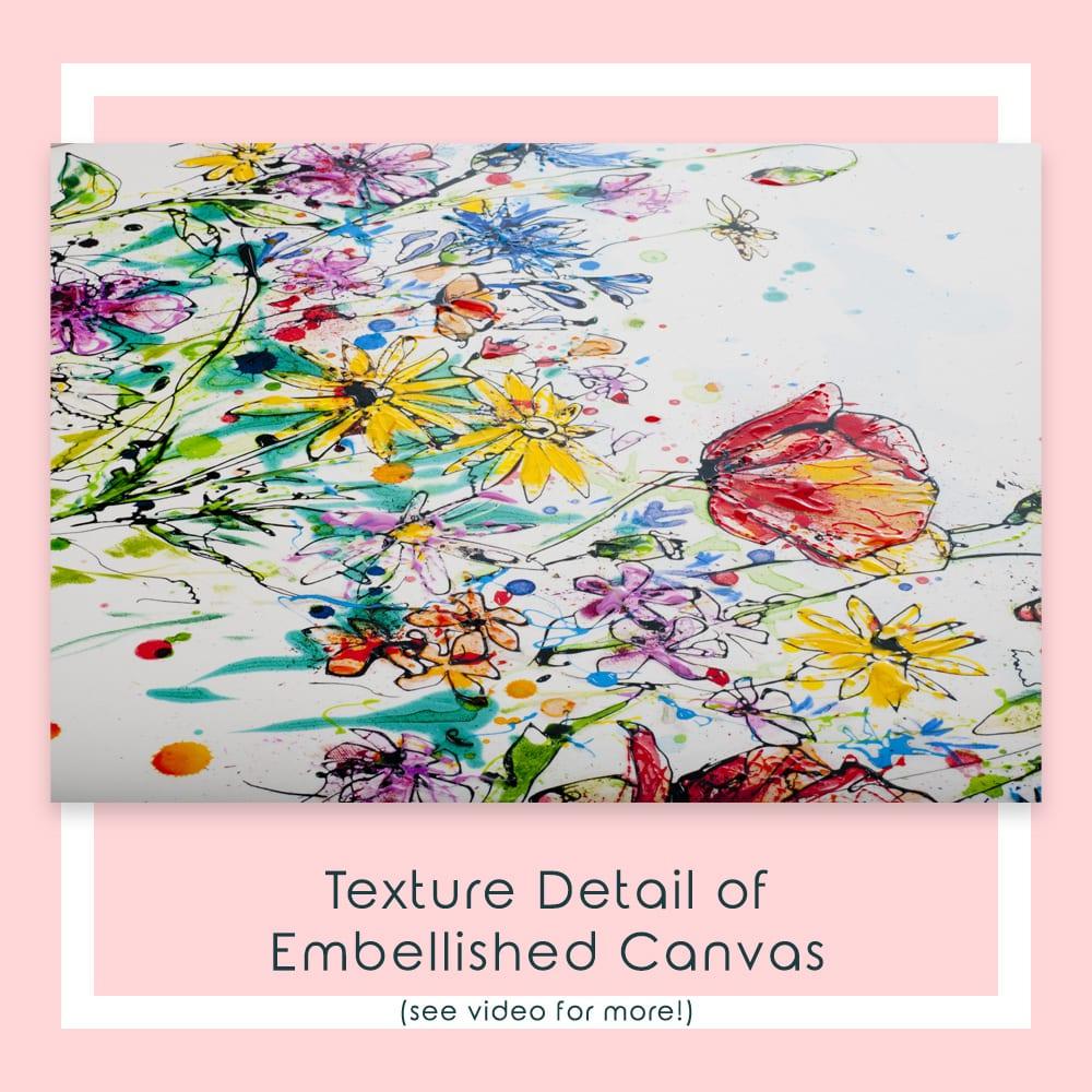 Enchanted Garden Embellished Canvas Detail