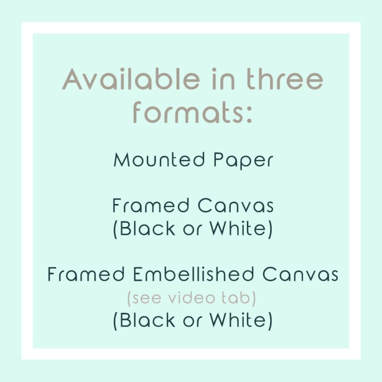 Text Explanation of Print Formats Available for Garden Party