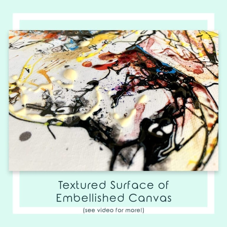 Embellished Detail of Garden Party Canvas Print