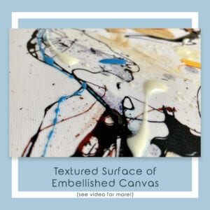 Embellished Detail of Guardian Canvas Print