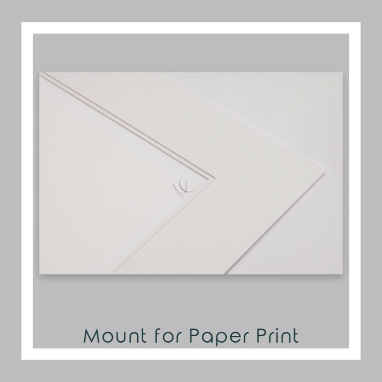Majestic Paper Print Mount Close Up