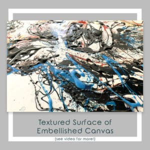 Embellished Detail of Majestic Canvas Print