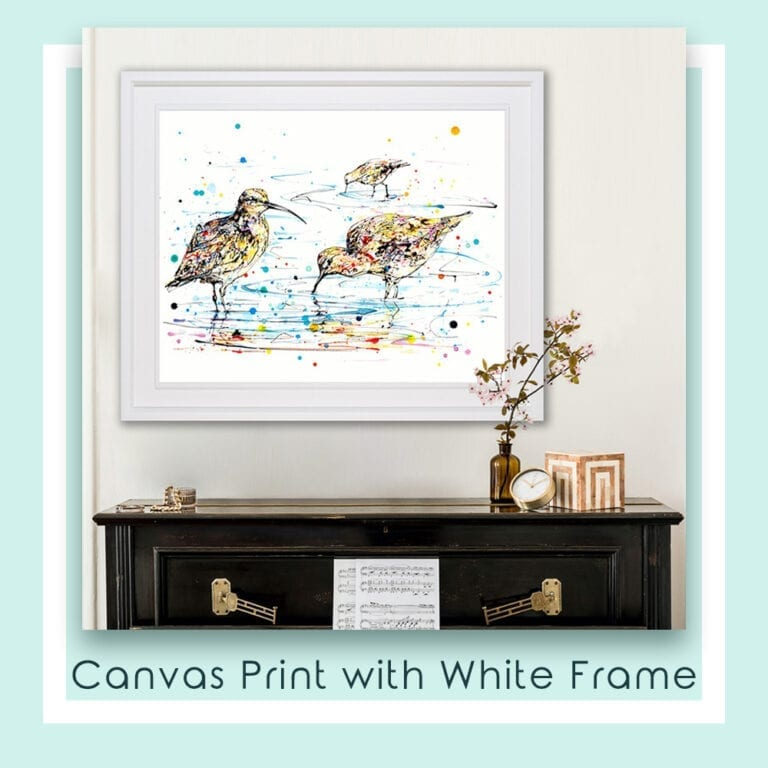 Reflections Canvas Print shown in White Frame in Situ