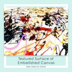 Embellished Detail of Reflections Canvas Print
